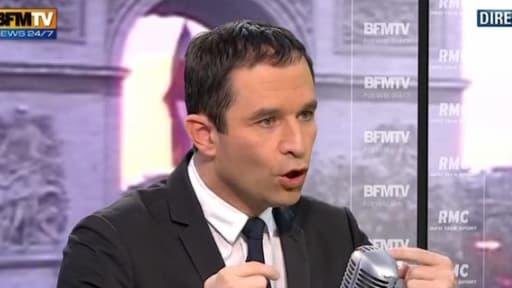Benoît Hamon était l'invité de Jean-Jacques Bourdin, ce jeudi 13 décembre sur BFMTV/RMC.