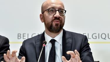 Le Premier ministre belge Charles Michel, lors d'une conférence de presse ce dimanche 9 décembre 2018
