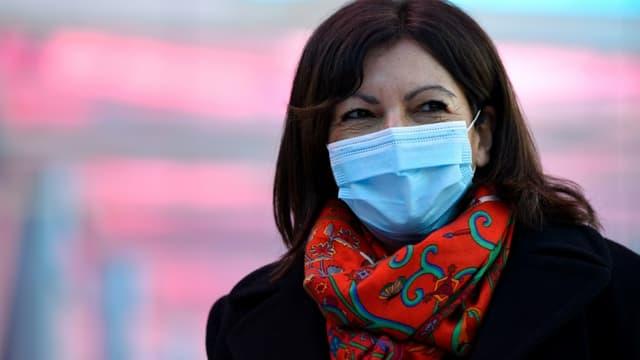 La maire de Paris Anne Hidalgo le 19 février 2021 à Nancy