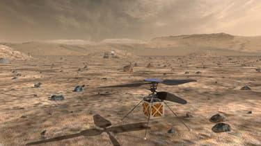 """La Nasa nourrit de grandes ambitions pour la mission de son futur """"Marscopter""""."""
