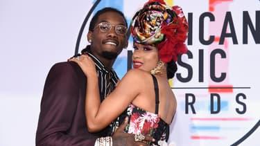 Offset et Cardi B aux American Music Awards, en octobre 2018