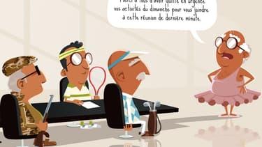 """""""Au taf"""" présente la vie de bureau sous la houlette d'un patron impitoyable qui malmène ses salariés."""