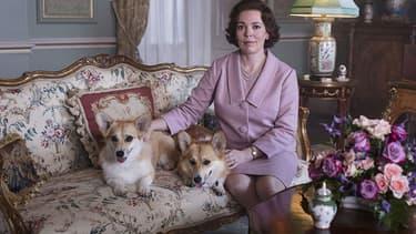 """Olivia Colman dans le le rôle d'Elizabeth II dans """"The Crown"""", saison 3"""