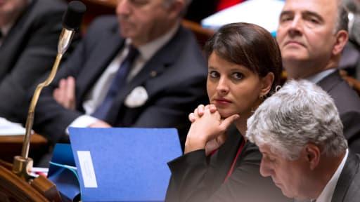 Najat Vallaud-Belakacem lors d'une séance des questions au gouvernement à l'Assemblée nationale, le 21 janvier 2014.