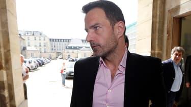 Jérôme Kerviel le 15 avril 2015 à la cour d'appel de Versailles.