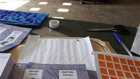 Dans un bureau de vote de Gagnoa, dans l'ouest de la Côte d'Ivoire. Le dépouillement des suffrages a débuté dimanche soir en Côte d'Ivoire, à l'issue du second tour de l'élection présidentielle opposant le président sortant Laurent Gbagbo et l'ancien Prem