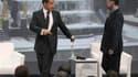 Le président russe Dmitri Medvedev et Nicolas Sarkozy à Saint-Pétersbourg. Paris et Moscou ont signé samedi des accords pour cinq milliards d'euros d'investissements - trois milliards d'investissements français en Russie et deux milliards d'investissement