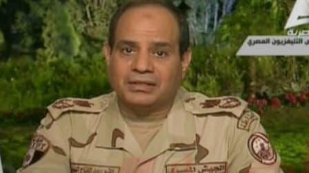 Le maréchal Abdel Fattah al-Sissi a annoncé sa candidature à la présidentielle à la télévision égyptienne, le 26 mars.