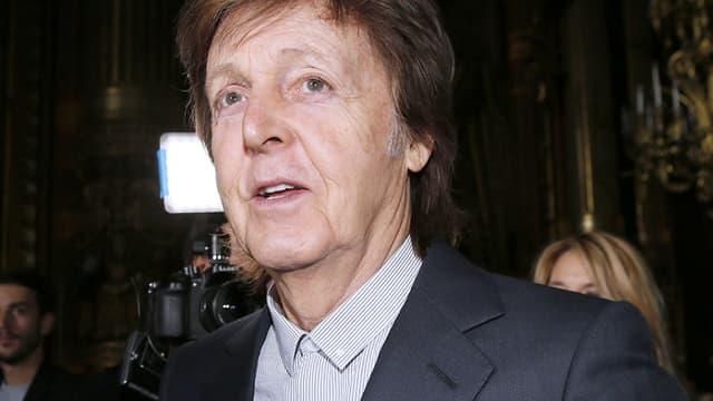 Paul McCartney à la Fashion week de Paris, le 7 mars 2016.