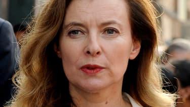 L'ex-compagne de François Hollande, Valérie Trierweiler en Inde le 28 janvier 2014.