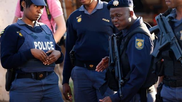 La police sud-africaine