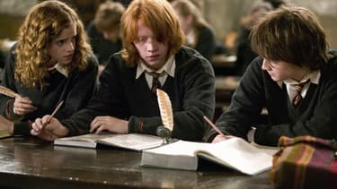 "Hermione, Ron et Harry dans la saga de films ""Harry Potter"""