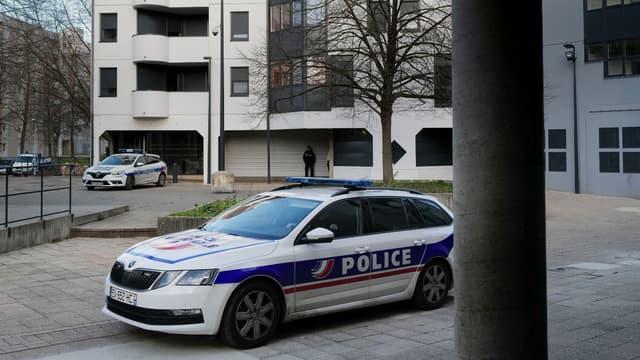 Véhicule de Police dans le quartier de la Planoise, Besançon, le 15 janvier 2020
