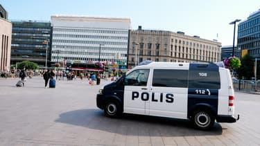 Une voiture de police à Helsinki, Finlande (PHOTO D'ILLUSTRATION).