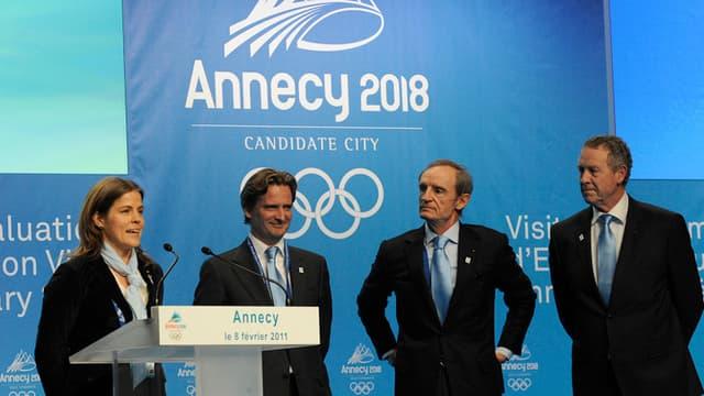 Le comité de candidature d'Annecy 2018
