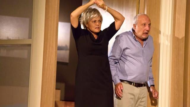 """Muriel Robin et François Berléand dans la pièce """"Momo"""""""