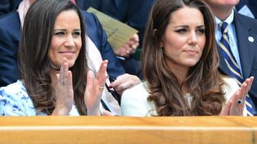 Pippa et Kate Middleton en juillet 2012