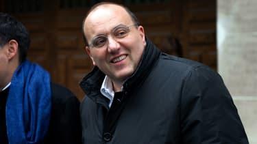 Julien Dray, le 23 avril 2012 au siège du Parti socialiste à Paris.
