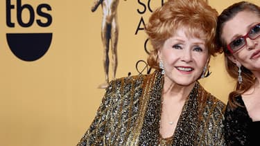 Debbie Reynolds et Carrie Fisher le 25 janvier 2015