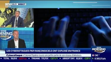 """Guillaume Poupard (Directeur général de l'Agence nationale de la sécurité des systèmes d'information): """"Ça n'existe plus les petits pirates, on est passé à de la grande criminalité, ce sont des mafias"""""""