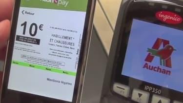 Les clients d'Auchan pourront bientôt y régler leurs achats avec un porte-monnaie électronique