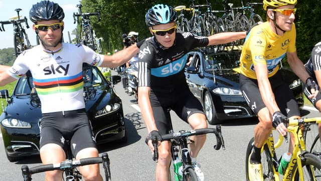Cavendish, Froome et Wiggins