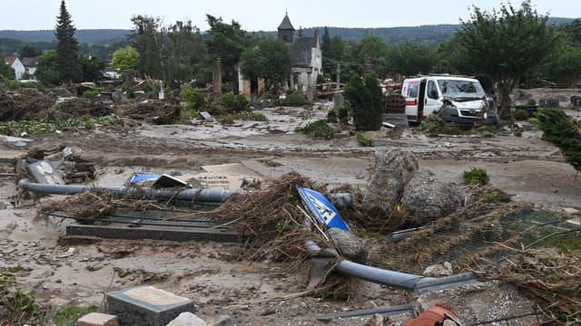 Des dégâts dans une ville allemande