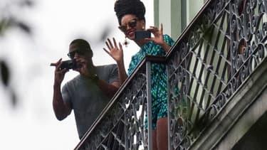 La chanteuse Beyoncé et le rappeur Jay-Z à la Havane, le 5 avril.