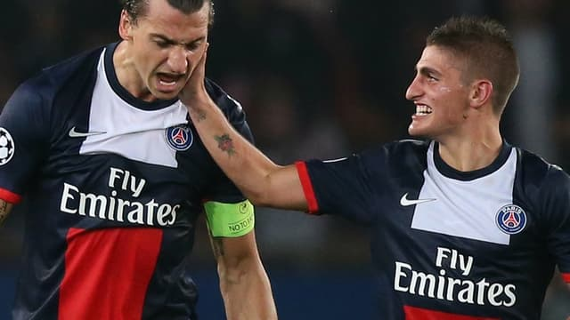 Zlatan Ibrahimovic et Marco Verratti
