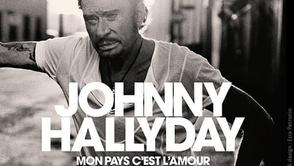 """La pochette de l'album posthume de Johnny Hallyday, """"Mon pays, c'est l'amour"""""""