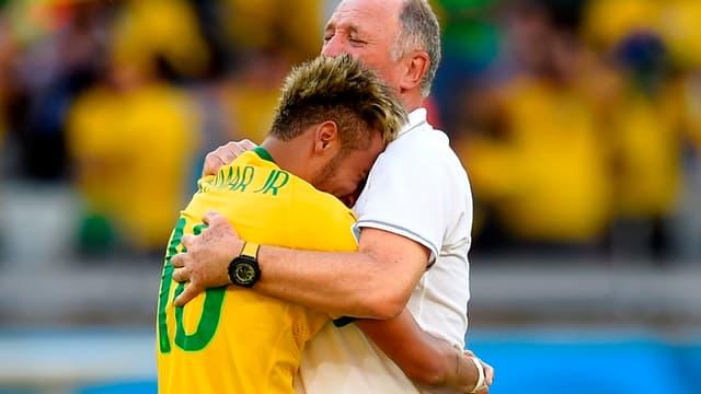 Neymar et Scolari
