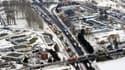 13 mars 2013 : l'autoroute A1 totalement paralysée en direction de Lille, à partir de Roissy.