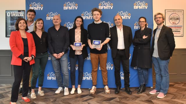 """Les lauréats et le jury du """"Défi BFMTV"""", édition 2019"""