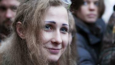 Maria Alyokhina, lundi, après sa libération.