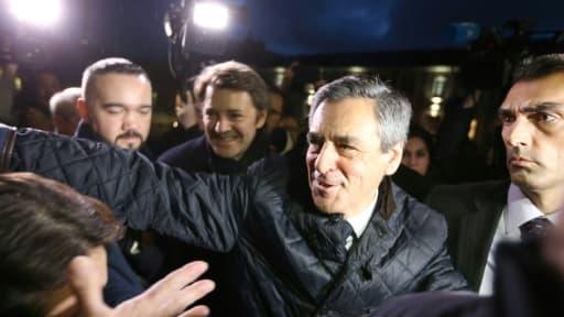 François Fillon accompagné de François Baroin le 7 février 2017 à Troyes