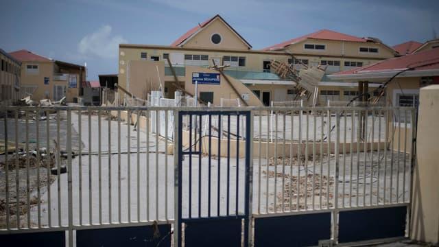 Une école à Marigot, la principale commune de Saint-Martin, le 12 septembre 2017