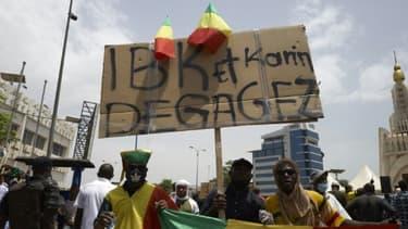 Des opposants maliens manifestent à Bamako contre le président Ibrahim Boubacar Keita le 5 juin 2020