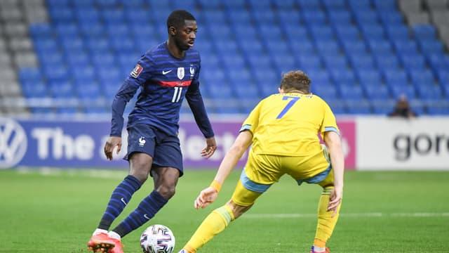 Ousmane Dembélé lors de Kazakhstan-France