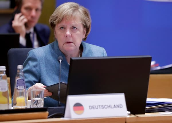 Angela Merkel lors du Conseil européen des 10 et 11 décembre.