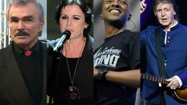 Burt Reynolds, Dolores O'Riordan, Soprano et Paul McCartney