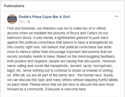 Dodie's a réagi sur Facebook