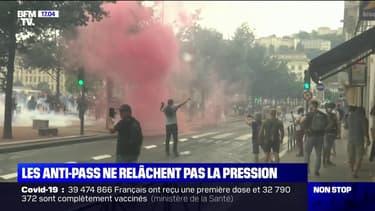 Manifestation anti-pass sanitaire: des incidents aux abords de la place Bellecour à Lyon
