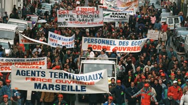 Manifestation à Marseille le 16 décembre 1995