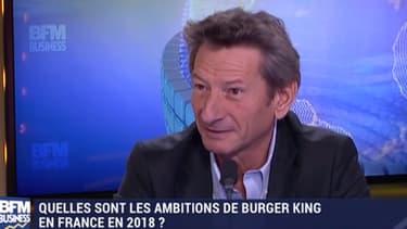 Jérôme Tafani,directeur général de burger King France et de Quick, sur le plateau de BFM business.