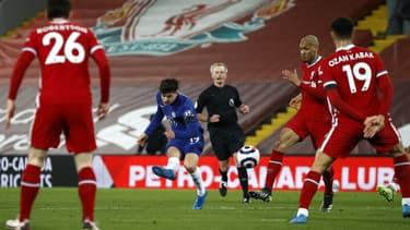 Mason Mount lors du match Liverpool-Chelsea, le 4 mars 2021