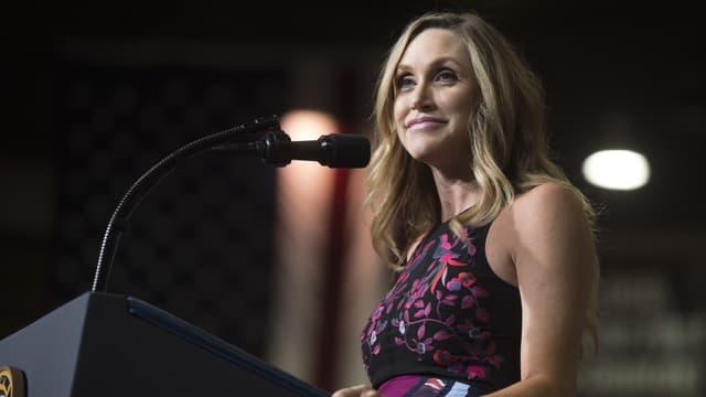 Lara Trump, belle-fille du président américain, à un meeting en Virginie occidentale, le 3 août 2017.