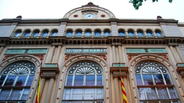 La façade du Grand Théâtre de Liceu, à Barcelone