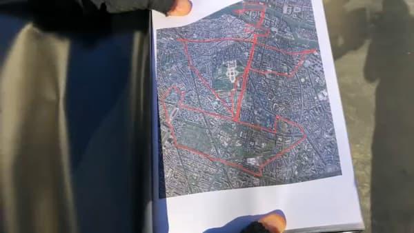 Le voilier, emblème de Paris, représenté en GPS drawing.