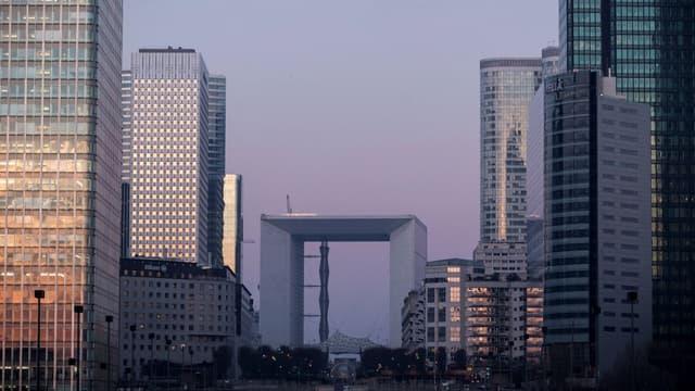 Le quartier d'affaires de La Défense à Paris