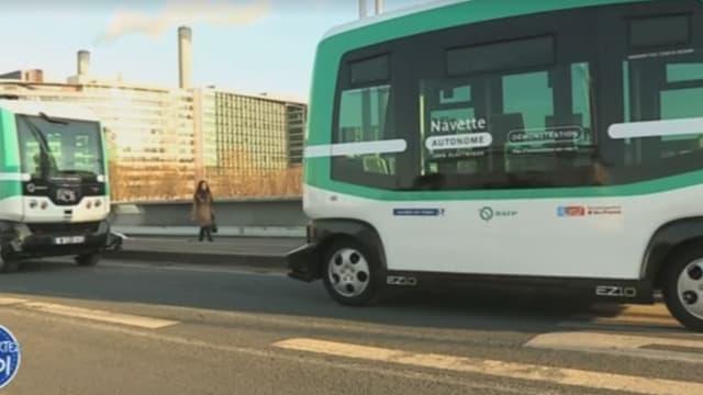 Lundi 23 janvier, les deux navettes autonomes relieront la Gare de Lyon à Austerlitz